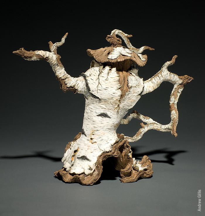 "Eric Serritella, Sassy Birch Teapot (2009) Ceramic. Dimensions: 16"" h x 16"" w x 8"" d. Courtesy of the artist"