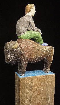 Christopher Wagner – reclaimed wood; theme: our relationship with animals
